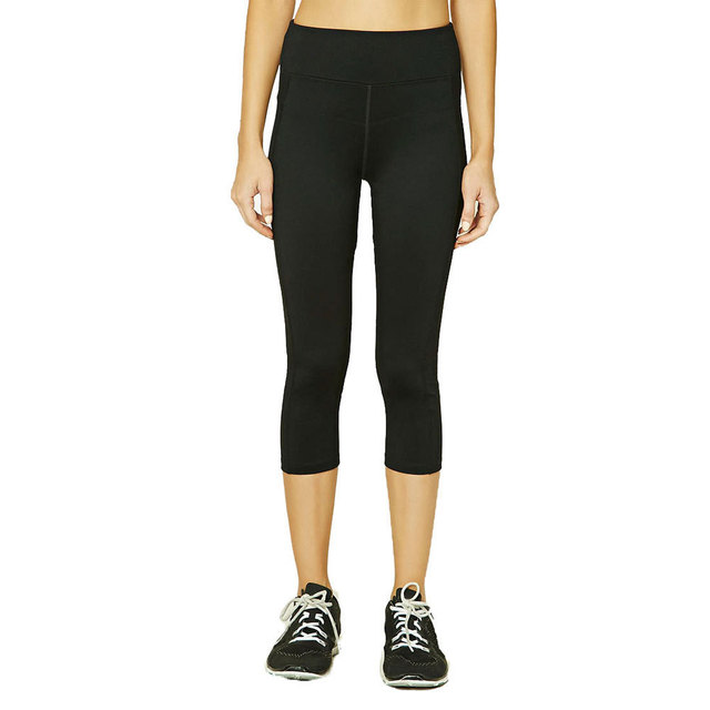 05efc2049e US $15.99 |Black 7/8 pants yoga sports Crop Capris Leggings pants High Rise  fitness workout leggings Running activewear Clothing-in Yoga Pants from ...