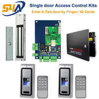 Metal Fingerprint RFID Standalone Access Controller For Single Door Wiegand Access Control Board