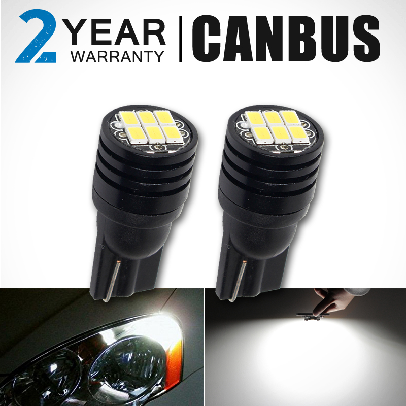 CN360 2 PCS Super Bright Canbus No Error SMD3020 T10 W5W 168 194 Car LED Reading Mirror License Plate Width light carprie super drop ship new 2 x canbus error free white t10 5 smd 5050 w5w 194 16 interior led bulbs mar713