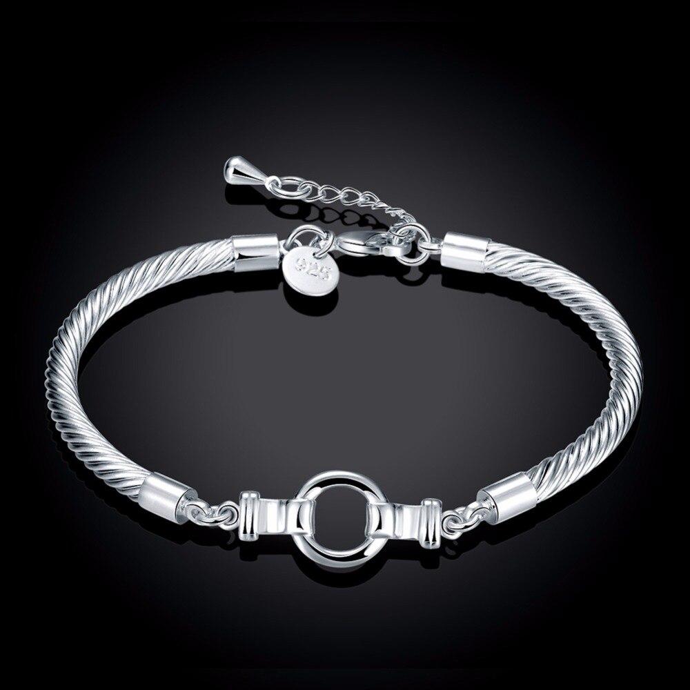 Frauen Modeschmuck 925 Sterling Silber Charme uhr stile 4mm Draht ...