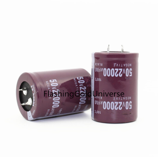 20PCS-2PCS 50V 22000UF 22000UF 50V  50V22000UF 22000UF50V Electrolytic Capacitors Size: 35X50MM Best Quality