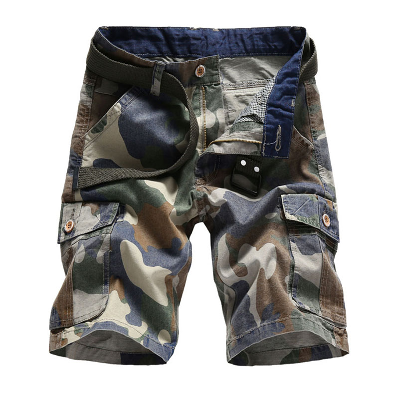 Men Short Pants Summer Camouflage Cargo Pants Cotton Casual Loose Work Shorts Short Masculino or Men Plus Size 30-40