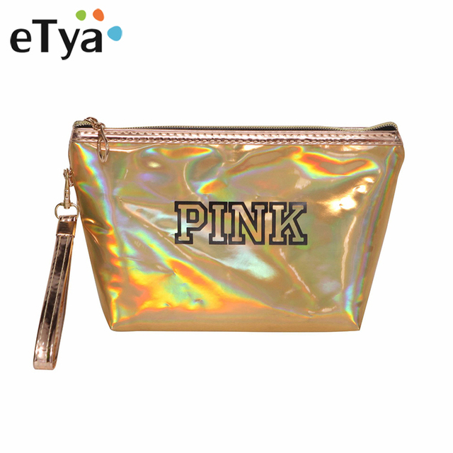 eTya Portable Travel Cosmetic Bag Women Zipper Makeup Bags Handbag Fashion  PU Leather Make Up Organizer 25712fa8cdff0