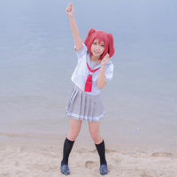 Anime Love Live! Sunshine!! Aqours Kurosawa Ruby Cute Sailor Suit Cosplay Costum Summer School Uniform Lolita Gilr Dress