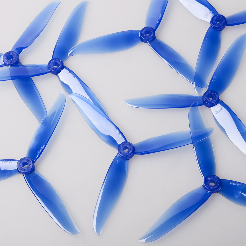 24 pcs / 12 pair DALPROP CYCLONE T6040C 6040 3 Blade propeller for RC FPV Drone Quadcopter dal t5046c cyclone propeller blue