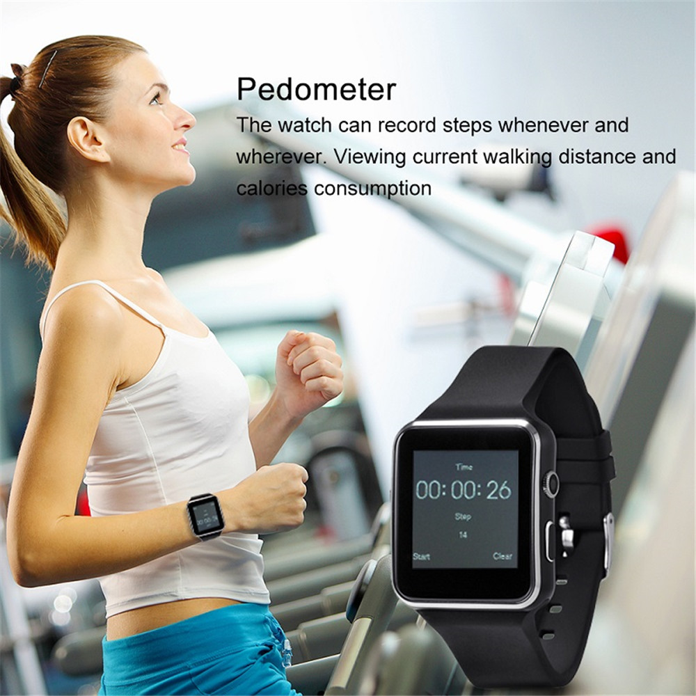 Image 5 - X6 Bluetooth Smart Watch With Camera For Men Women Sport Bracelet Touch Screen Support SIM TF Card Wristband For Mobile Phone-in Smart Watches from Consumer Electronics