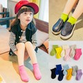 5 pairs a set of Girls spring summer cotton socks children candy colored socks baby socks