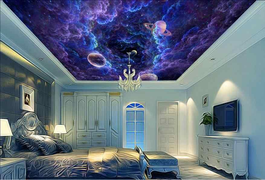На заказ фото обои 3d потолок облако фотообои с планетами обои спальня гостиная обои для стен потолок Walpaper