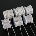 10yards/roll Charming Rhinestone Chain Clear/White AB Rhinestone Silver Plated Chain Craft Apparel Sewing DIY Clothes Accessory