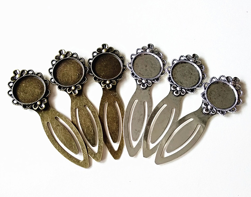10pcs Antique Silver Ancient Bronze Cabochon Base inner size 20mm Round Supplies for Bookmarks Making in Jewelry Findings Components from Jewelry Accessories