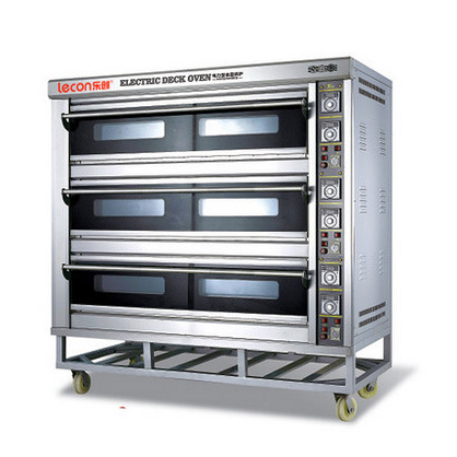 A large bread oven three layer nine plate commercial oven electric oven cake bread pizza oven Egg Tart oven Lecon YXE-9