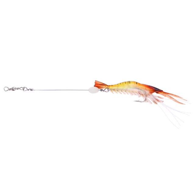 US $0 69 38% OFF Soft Life like Fishing Lures Shrimp Bait with Hook  Freshwater Saltwater Fishing for Bass Trout Salmon Walleye Snakehead  (Red)-in