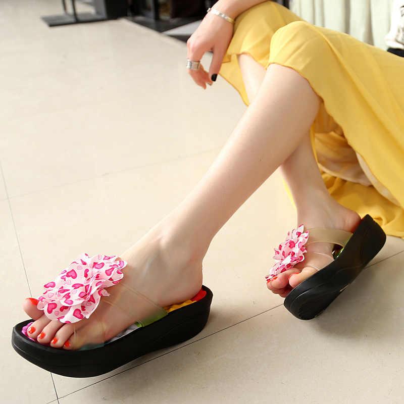 81bcfbb49f3 ... Summer Women'S Flip-Flop Sandals Platform Flip Flops Slippers Sandals  Swing Wedges Women Hole Shoes ...
