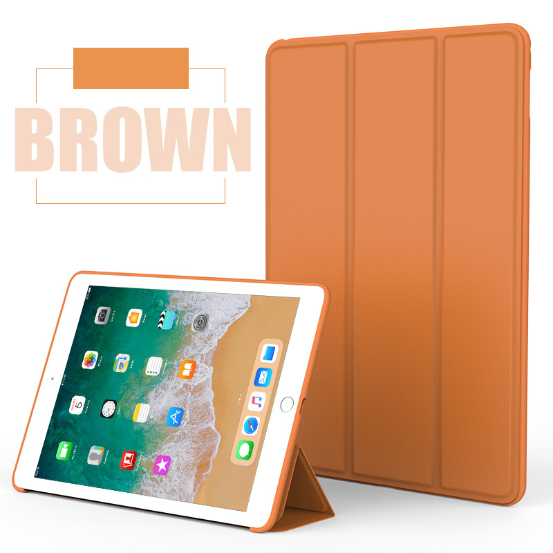 Brown Monochrome smart case with silicone back for Apple iPad Pro 10.5