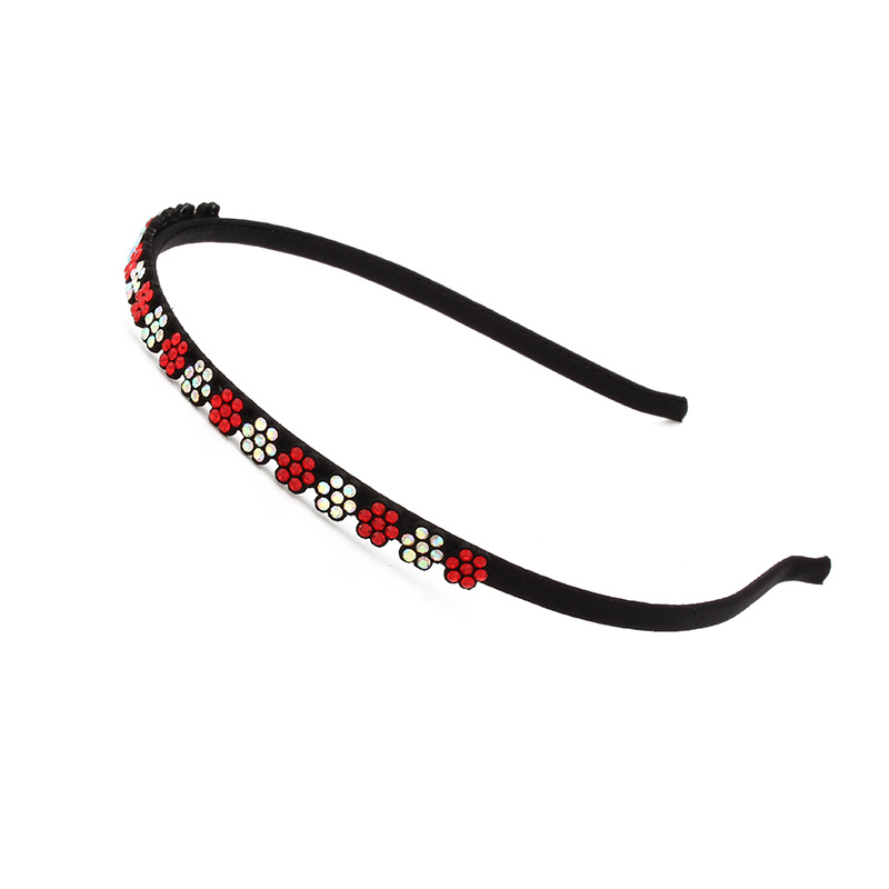 Rhinestones Flowers Hair Bands Artificial Leather Headbands for Women Girls Hair Accessories High Quality