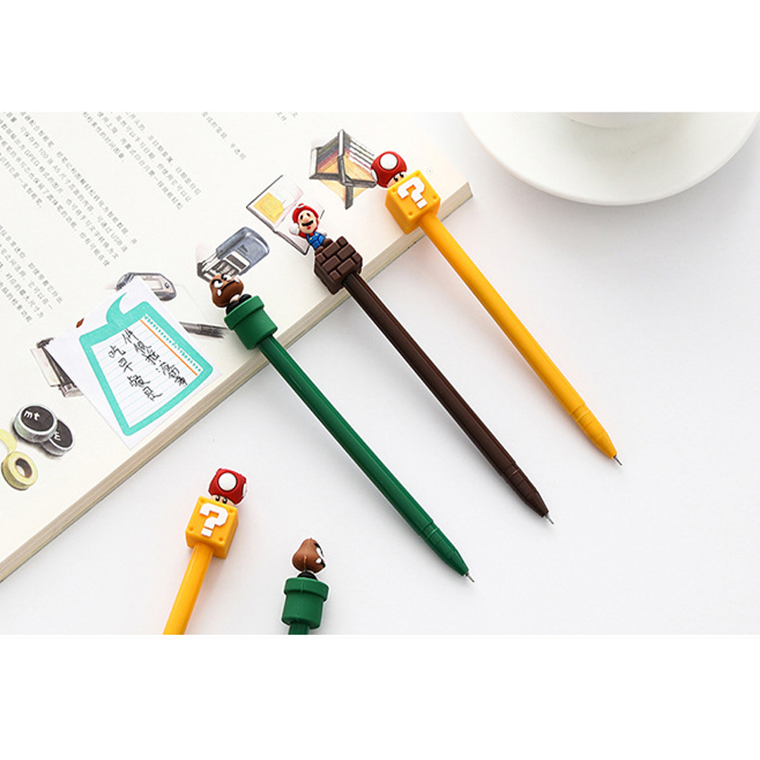 1pcs/lot New Super Mario gel pen Cartoon black ink For School students And office Writting