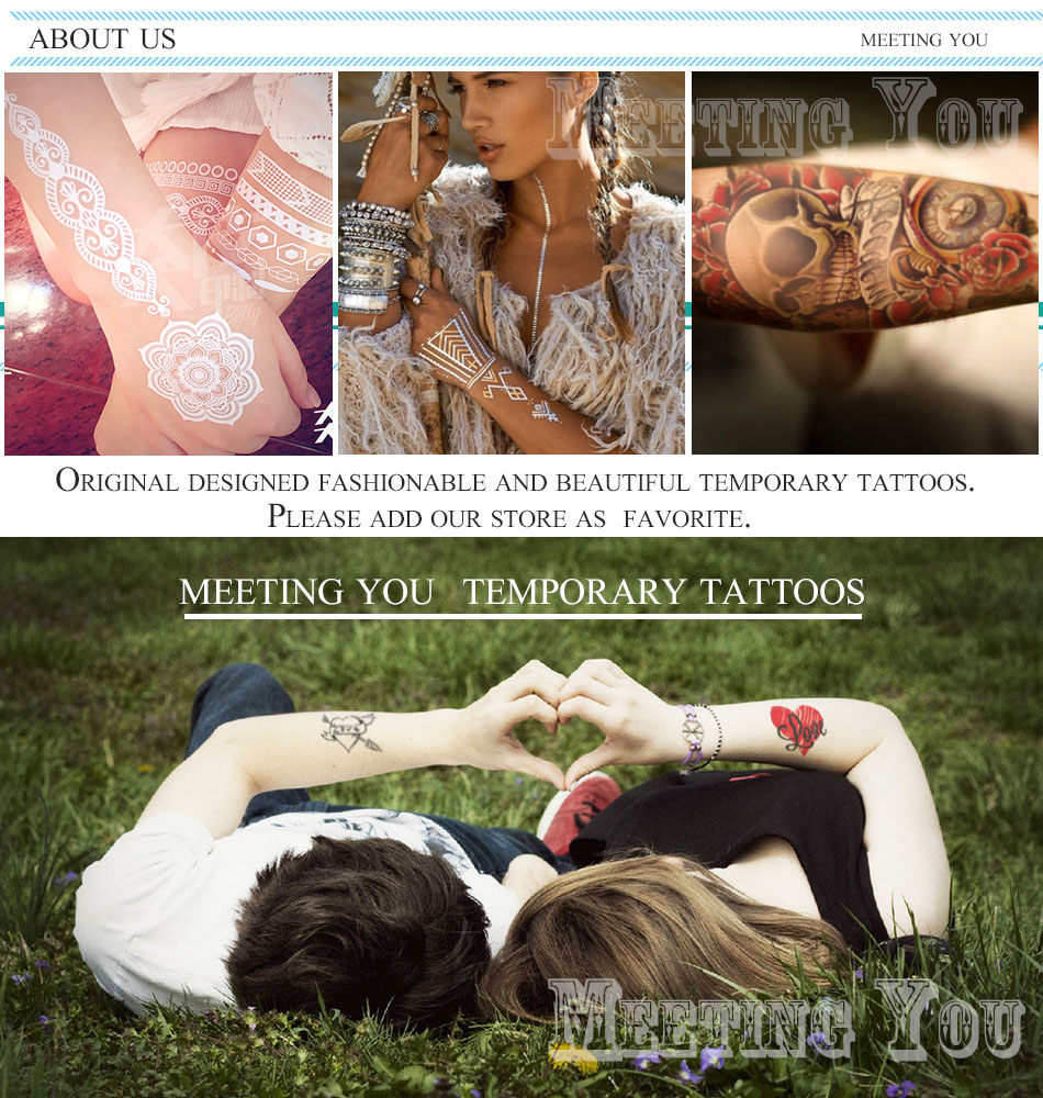big red Butterfly knot And pattern of Love tattoos sex women/girl body art tatoo,legs lure Temporary tattoo Stickers 4