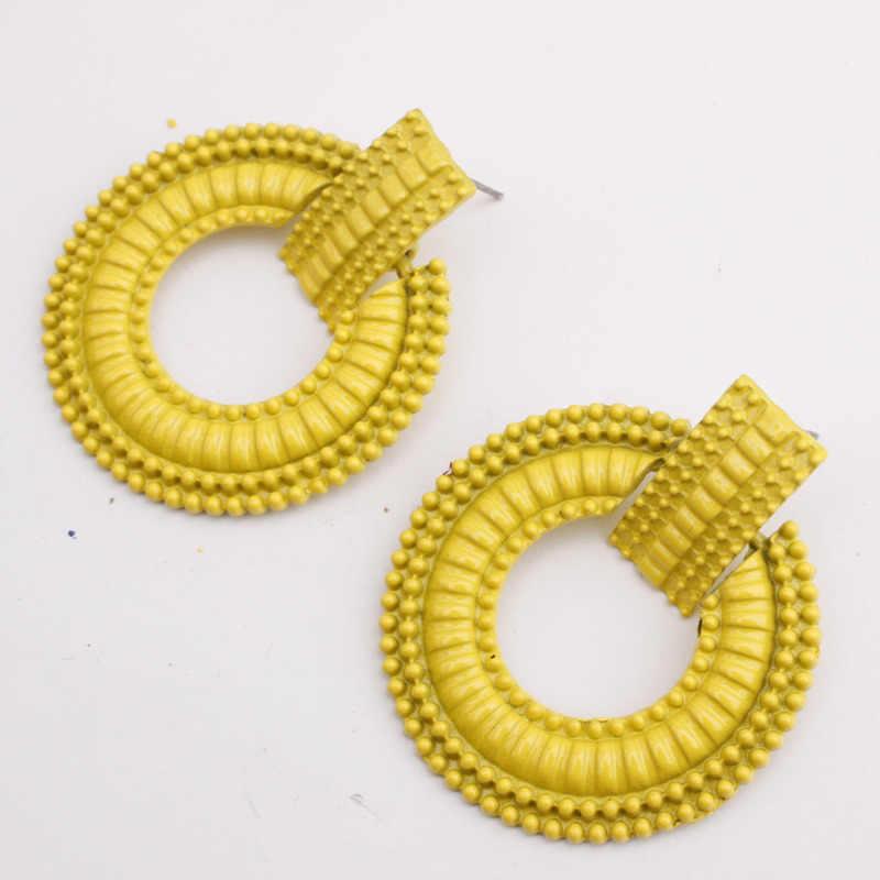 2018 Fashion Women Tassel Earrings 2018 Brincos Boho Statement Fringe Earings Circle Vintage Za Dangle Round Earring Jewelry J20