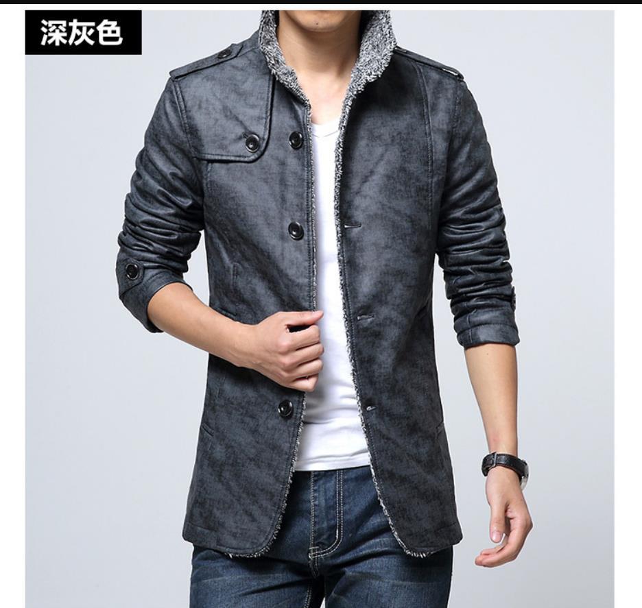 Coat Jacket Winter Autumn Plus Velvet 301965 Long-Section M-4XL Men's