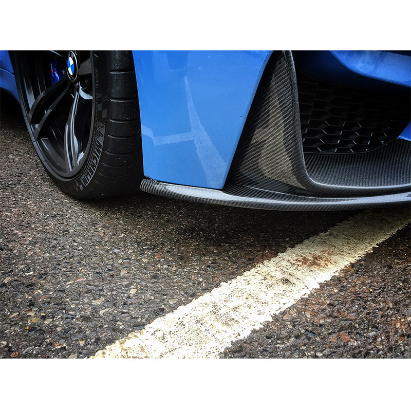 P Style Body kit Carbon Fiber Front bumper Lip and Splitter Apron for BMW F80 M3 F82 F83 M4 2014 2015 2016