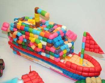 200pcs Starch Miou Baby Kids Building Blocks Magic Corn Plasticine Children Child Toy kernels Xmas Gift