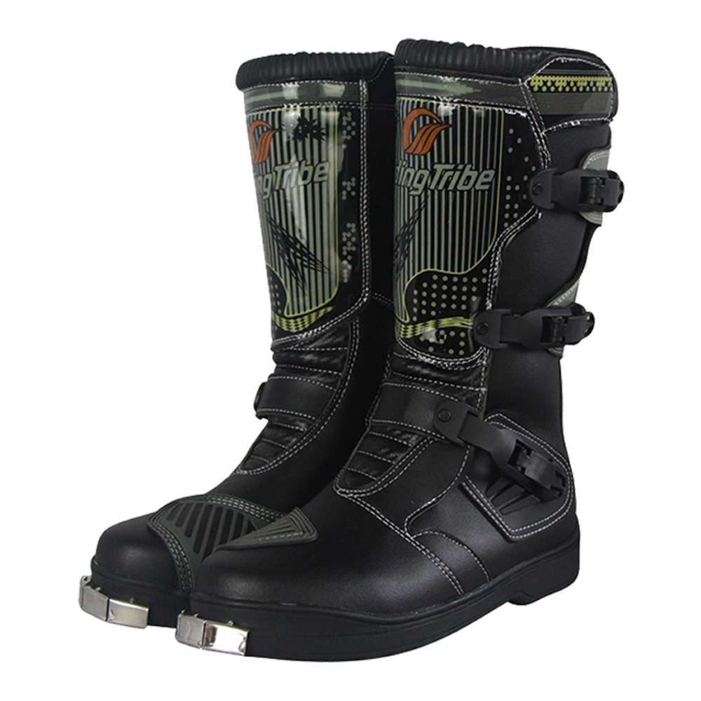Motorcycle Boots Men Racing Non slip Bike Motocross Strong Boots Moto Shoes Knee high Riding Motorbike