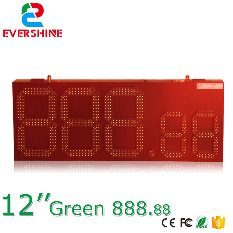 RF controller outdoor gas station led oil price sign 7 Segment panel 15 inch green color for hot sale|led for sign|sign led|panel led - title=