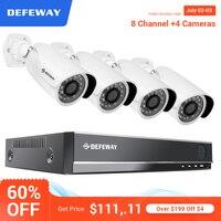 DEFEWAY товары теле и видеонаблюдения комплект 1080 P HD CCTV системы 8CH CCTV AHD для камеры наблюдения системы 4 CCTV Открытый камера