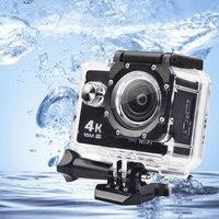 Trainshow Allwinner 방수 액션 카메라 4 천개 비디오 카메라 스포츠 DV LCD 야외 12MP 60FPS의 다이빙 옵션 패키