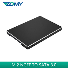 Zomy m.2 ngff ssd case to 2.5″ sata black portable aluminum SSD enclosure M.2 NGFF to SATA 3.0 adapter card for 2242 2260 2280