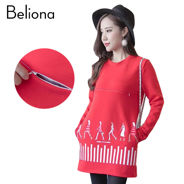 US $36.31 |Winter Warm Feeding Clothes Maternity Dresses Plus Size  Breastfeeding Clothing for Premama Nursing Dress Pregnancy Clothes-in  Dresses from ...