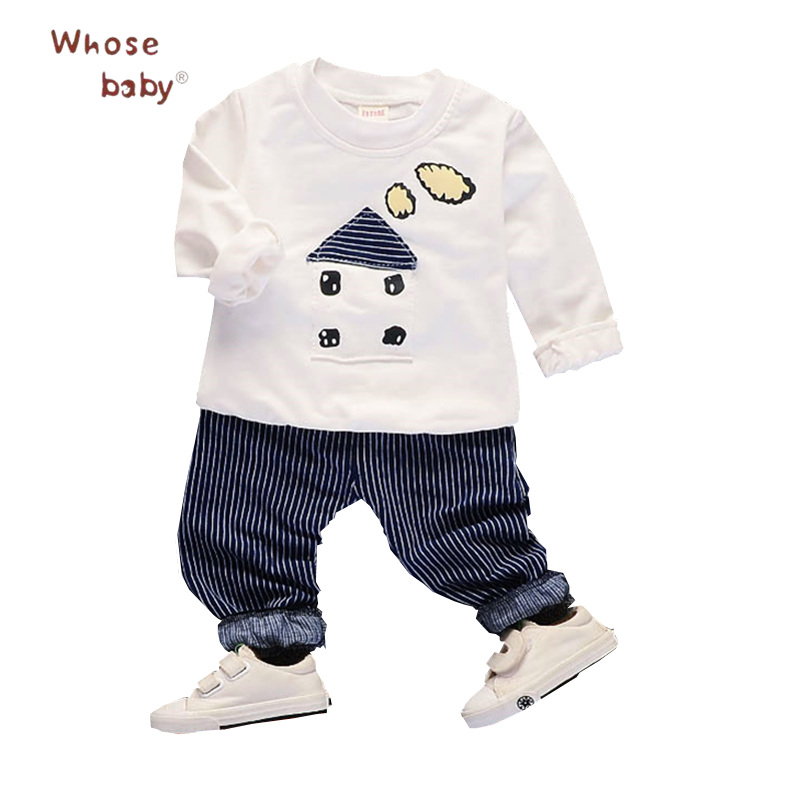 Baby Boys Autumn Clothes Newborn Baby Cute Clothing For Children 2Pcs Long Sleeve Top+Pants Infant Kids Clothes Toddler Boys Set newborn baby halloween vampire cosplay jumsuit toddler boys girls funny cute clothes set kids photography props birthday gift