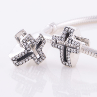 Fits Chamilia DIY Charm Bracelet Authentic Sterling Silver 925 Beads Religious Cross European Charm Women Jewelry