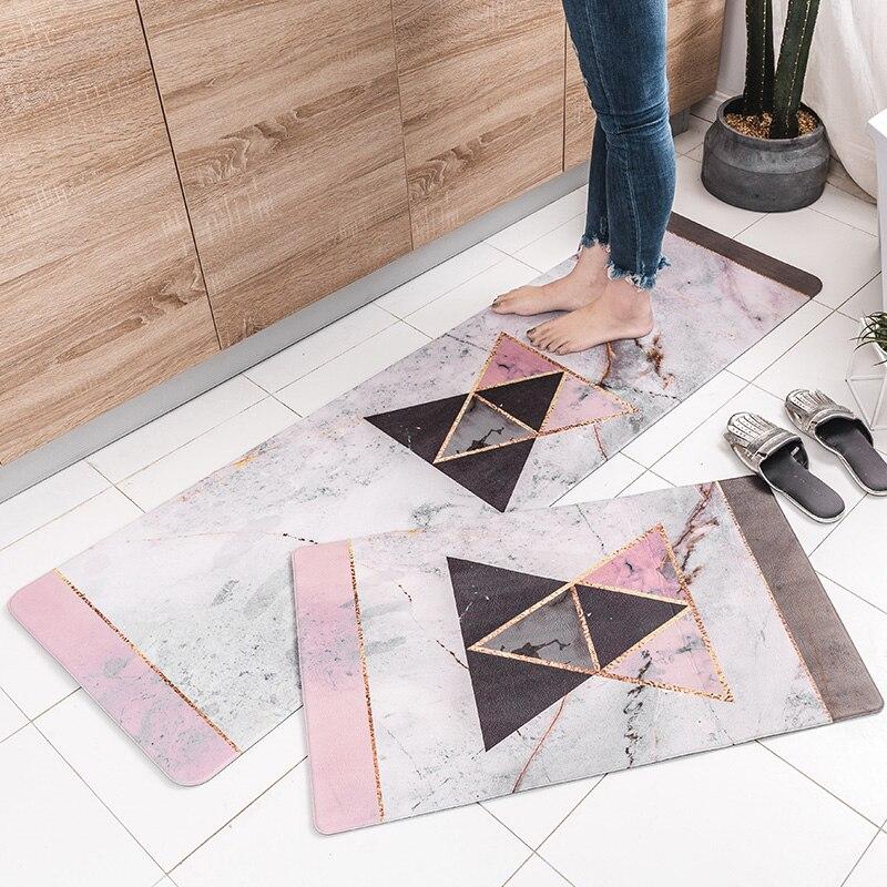 2018 New Modern Nordic Style Original Design Kitchen Mat PVC Door Mat Home Carpets For Living