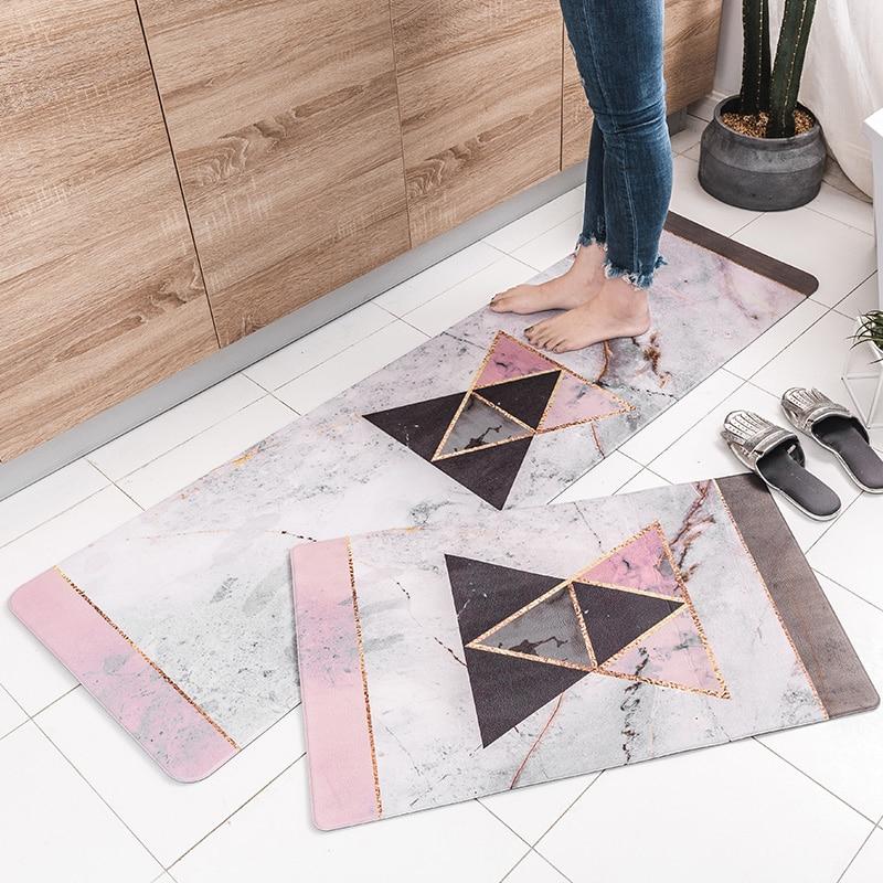 2018 neue Moderne Nordic Stil Original Design Küche Matte PVC Tür matte Hause Teppiche Für Wohnzimmer Schlafzimmer Hause Boden Bereich Teppich-in Matte aus Heim und Garten bei  Gruppe 1