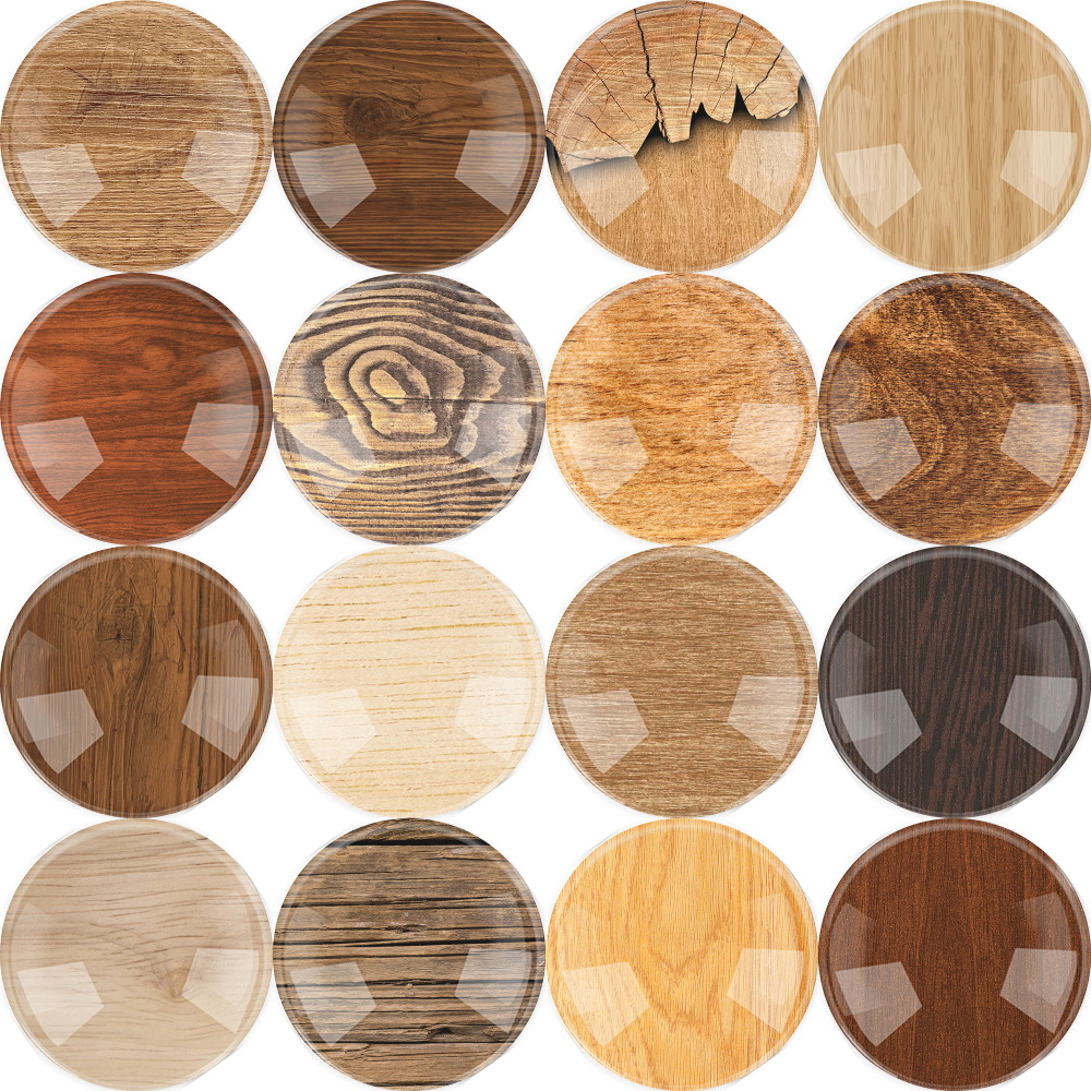 10~25mm 12~50pieces Wood Grain Flatback Cameo Cabochon Domed Accessory Glass Cabochon DIY Handmade Glass Jewelry Accessorie