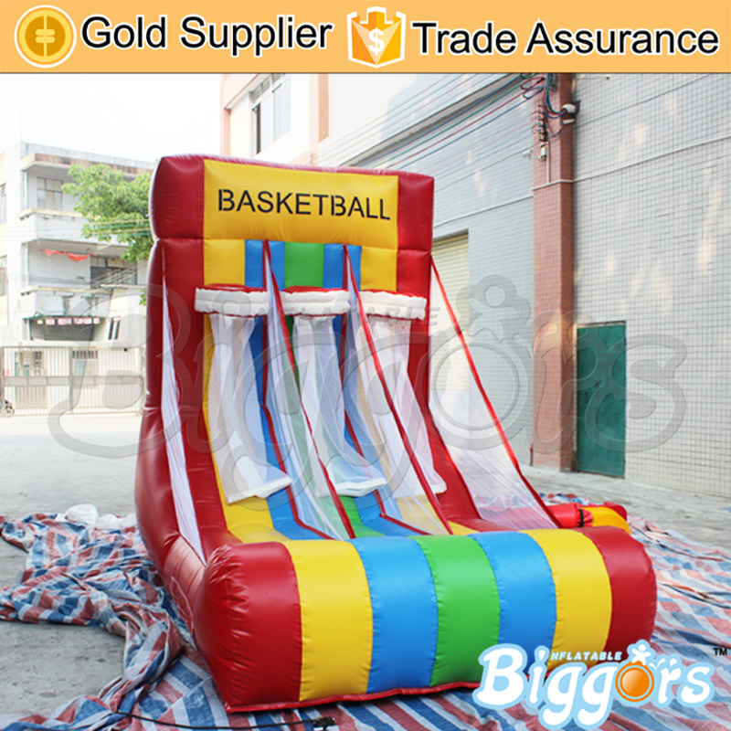 Chinese Factory Inflatable Basketball Hoop Sports Game With Free Air Blower