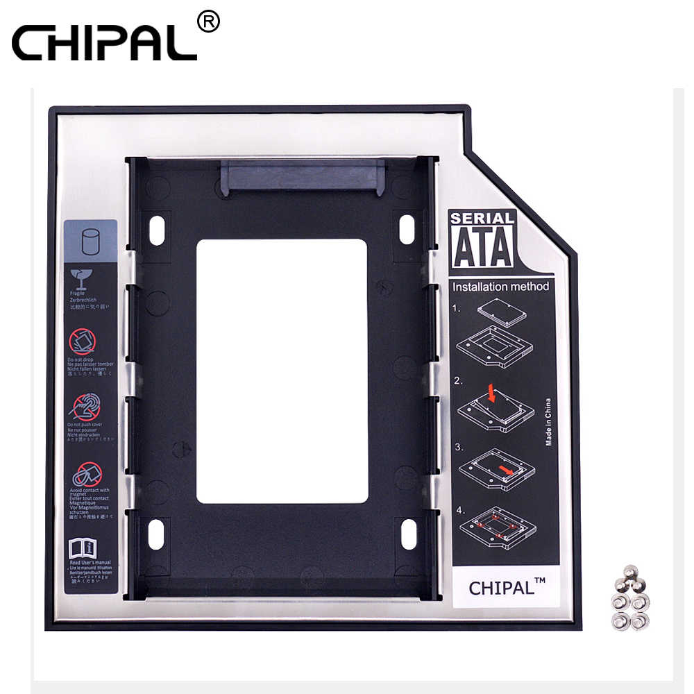"CHIPAL Universal 2nd HDD Caddy 12,7mm SATA 3,0 2,5 ""SSD Festplatte Fall Adapter + Led-anzeige für laptop CD DVD-ROM Optibay"