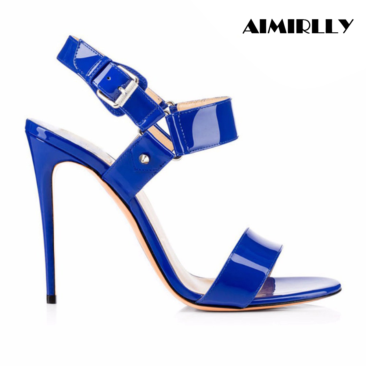 Aimirlly Women Shoes Open Toe High Heels Ankle Buckle Strap Sandals Slingback Ladies Party Dress Shoes