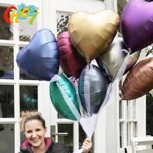 10pcs 18 inch Chrome metal balloon Heart Star Round matte helium balloon Wedding party decor Supplies birthday balloons shower клещи nws classic plus 1651 12 240