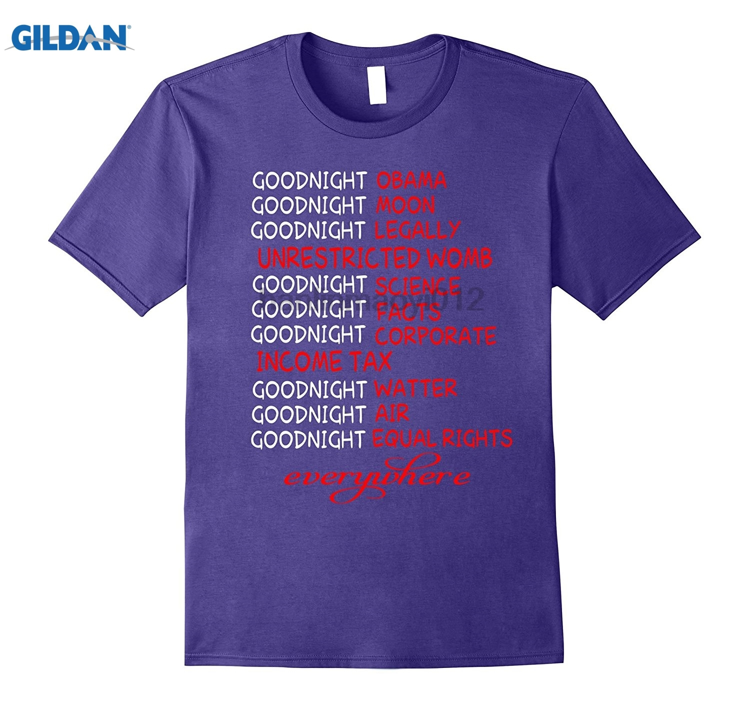 GILDAN Goodnight Obama , Goodnight Moon , Goodnight Legally T Shirt glasses Womens T-shirt