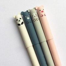 Bolígrafo borrable de estilo coreano, 48 Uds., bolígrafo de Gel de cerdo y borrable Panda, fricción mágica borrable de dibujos animados, venta al por mayor