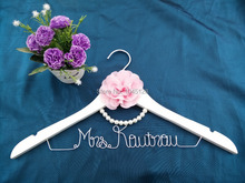 Free shipping Personalized Wedding Hanger, bridesmaid gifts, name hanger, brides hanger bride gift