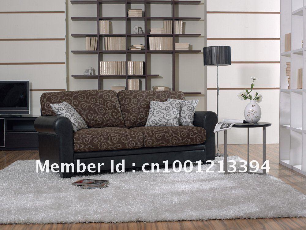 Mobilier moderne / salon tissu / canapé en cuir obligataire / 3 ...