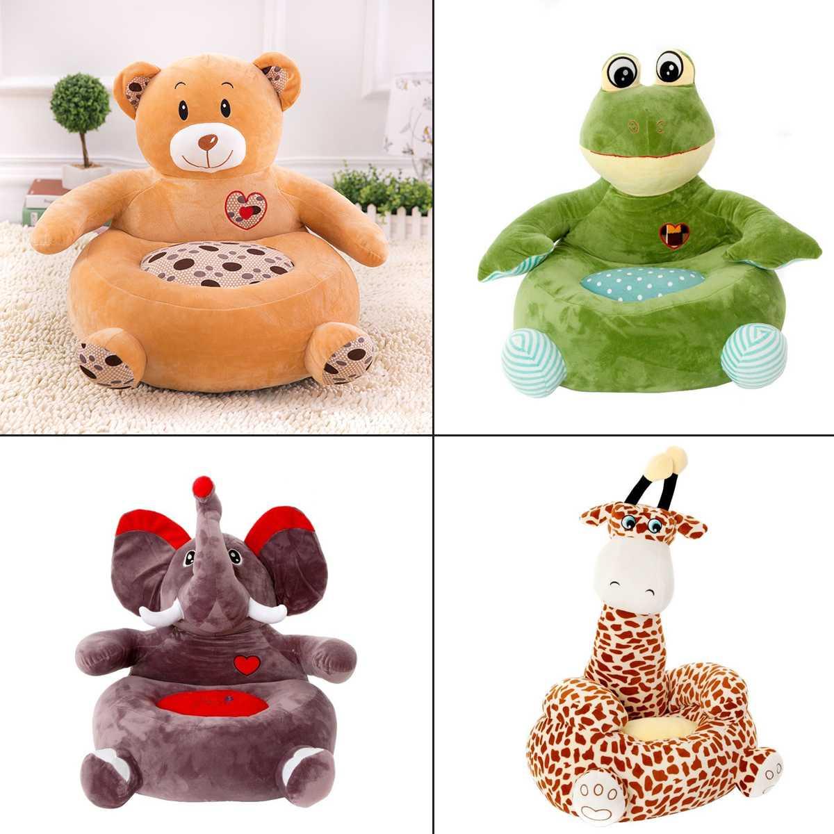 Dessin animé animaux mignon enfant siège PP coton peluche doux bébé infantile canapé bébé enfant en bas âge fauteuil pépinière meubles enfants doux jouets