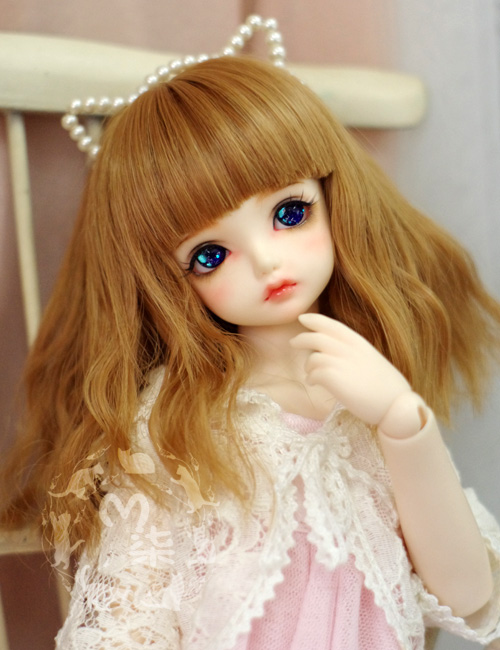 NEW 1/3 BJD wig   brown  long curly  hair  doll  DIY for1/3 ,1/4  BJD SD dollfie