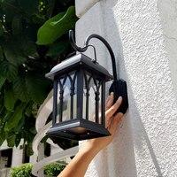 Outdoor Solar Power LED Candle Light Yard Garden Decor Tree Palace Lantern Light Hanging Wall Lamp HVR88