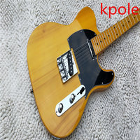 열 판매 Kpole 52 TL 세 일렉트릭 기타, 자연 TL 기타 실제 사진, 도매 무료 배송!