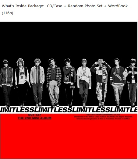 NCT 127 - LIMITLESS 2ND MINI ALBUM 2016.01.28 (random version)