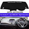 TAIJS Auto Dashboard Abdeckung Für Honda Fit Jazz 2009 2010 2011 2012 2013 Rechts Dash Mat Dash Pad DashMat Teppich anti-Slip